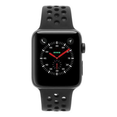 Apple Watch Series 3 Aluminiumgehäuse spacegrau 42mm mit Nike Sportarmband anthrazit / schwarz (GPS) aluminium spacegrau - neu