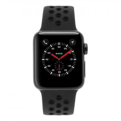 Apple Watch Series 3 Aluminiumgehäuse spacegrau 38mm mit Nike Sportarmband anthrazit / schwarz (GPS) aluminium spacegrau - sehr gut