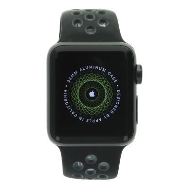Apple Watch Series 2 - boîtier en aluminium gris foncé 38mm  - bracelet sport Nike+ en gris/noir - aluminium gris foncé - Neuf