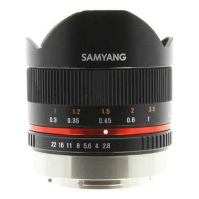 Samyang 8mm 1:2.8 UMC Fisheye II para Fujifilm X negro - nuevo
