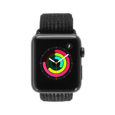 Apple Watch Series 3 Aluminiumgehäuse spacegrau 42mm mit Nike+ Sport Loop schwarz/platinum-grau (GPS + Cellular) aluminium spacegrau - gut