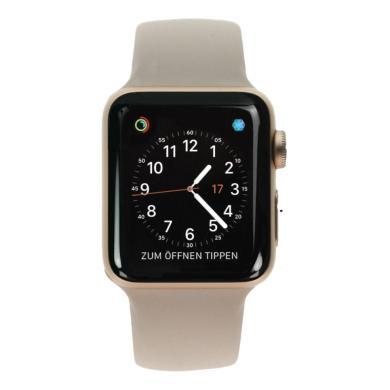 Apple Watch Series 3 Aluminiumgehäuse gold 38mm mit Sportarmband sandrosa (GPS + Cellular) aluminium gold - neu