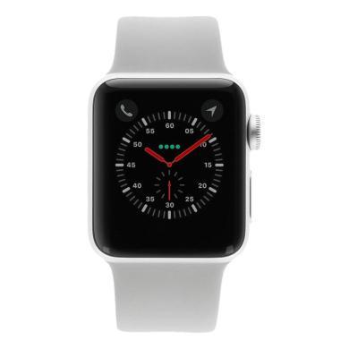 Apple Watch Series 3 Aluminiumgehäuse silber 38mm mit Sportarmband grau (GPS + Cellular) aluminium silber - neu