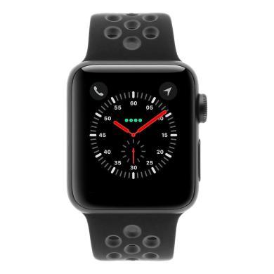 Apple Watch Series 2 Aluminiumgehäuse dunkelgrau 38mm mit Nike+ Sportarmband schwarz/grau aluminium dunkelgrau - neu