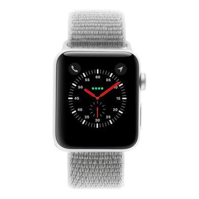 Apple Watch Series 3 Aluminiumgehäuse silber 42mm mit Sport Loop muschelweiss (GPS + Cellular) aluminium silber - neu