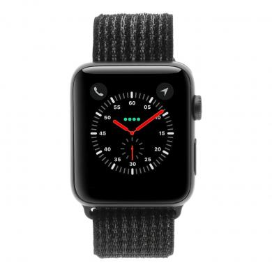 Apple Watch Series 3 Aluminiumgehäuse grau 42mm mit Sport Loop schwarz (GPS + Cellular) aluminium grau - gut