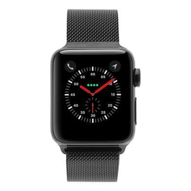 Apple Watch Series 2 Edelstahlgehäuse 38mm schwarz mit Milanaise-Armband schwarz edelstahl spaceschwarz - neu