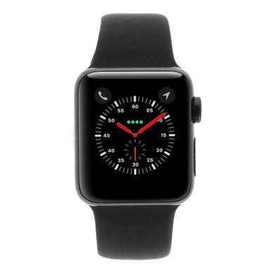 Apple Watch Series 2 Edelstahlgehäuse 38mm schwarz mit Sportarmband schwarz edelstahl spaceschwarz - neu