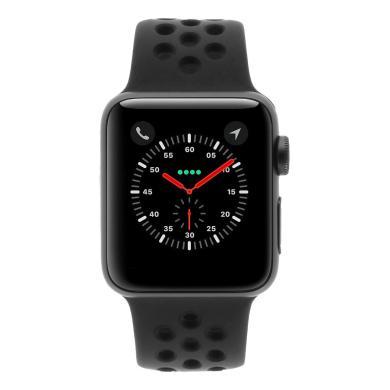 Apple Watch Series 3 38mm caja de aluminio en gris espacial y correa con Nike deportiva negro gris/negra (GPS+Cellular) - nuevo