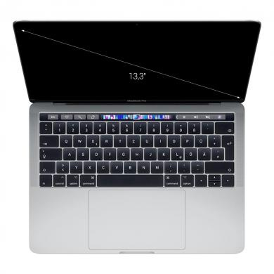 "Apple MacBook Pro 2018 13"" Touch Bar/ID 2,70 GHz Quad-Core Intel Core i7 mit 8 MB L3 Cache (Turbo Boost bis zu 4,50 GHz) 2,70 GHz 512 GB SSD 16 GB silber - wie neu"