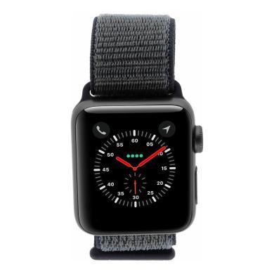Apple Watch Series 3 Aluminiumgehäuse spacegrey 38mm mit Nike+ Sport Loop grau/blau (GPS + Cellular) aluminium spacegrau - neu