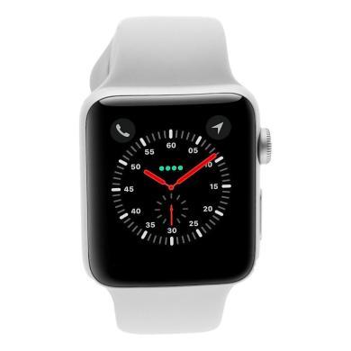 Apple Watch Series 3 42mm caja de aluminio en plata y correa sport blanca (GPS) - nuevo
