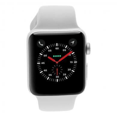 Apple Watch Series 3 Aluminiumgehäuse silber 42mm mit Sportarmband weiss (GPS) aluminium silber - neu