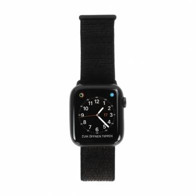 Apple Watch Series 4 44mm caja de aluminio en gris y correa sport Loop negra (GPS) - nuevo