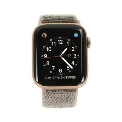 Apple Watch Series 4 Aluminiumgehäuse gold 44mm mit Sport Loop sandrosa (GPS) aluminium gold - neu