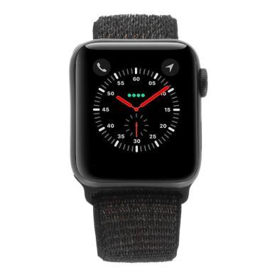 Apple Watch Series 4 Aluminiumgehäuse grau 40mm mit Sport Loop schwarz (GPS) aluminium grau - neu