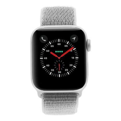 Apple Watch Series 4 Aluminiumgehäuse silber 40mm mit Sport Loop muschelgrau (GPS) aluminium silber - neu
