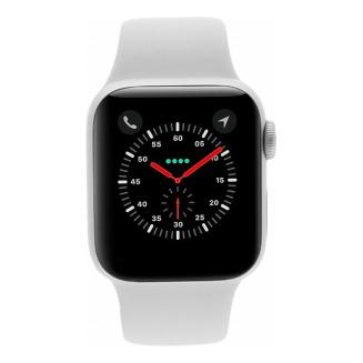 Apple Watch Series 4 - boîtier en aluminium argent 44mm - bracelet sport blanc (GPS+Cellular) - Bon