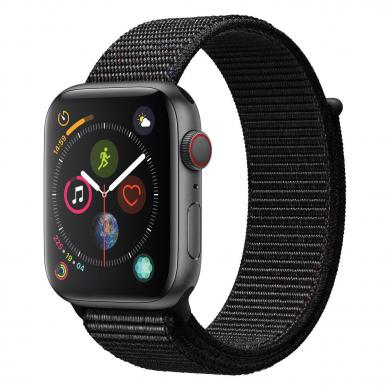Apple Watch Series 4 44mm caja de aluminio en gris y correa sport Loop negra (GPS+Cellular) - nuevo