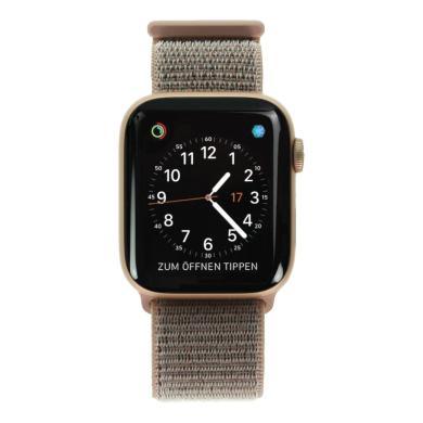 Apple Watch Series 4 Aluminiumgehäuse gold 44mm mit Sport Loop sandrosa (GPS + Cellular) aluminium gold - neu