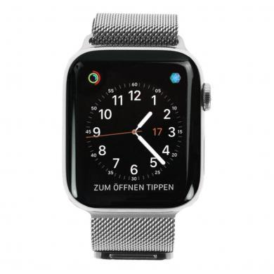 Apple Watch Series 4 Edelstahl silber 44mm mit Milanaise-Armband silber (GPS + Cellular) edelstahl silber - sehr gut
