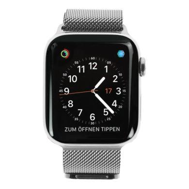 Apple Watch Series 4 44mm caja de acero inoxidable en gris y pulsera Milanese en plata (GPS+Cellular) - nuevo