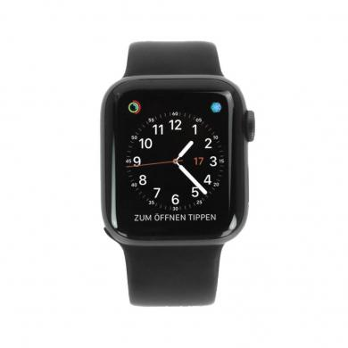 Apple Watch Series 4 - boîtier en aluminium gris 40mm - bracelet sport noir (GPS+Cellular) - Neuf