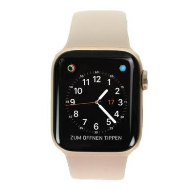 Apple Watch Series 4 Aluminiumgehäuse gold 40mm mit Sportarmband sandrosa (GPS+Cellular) aluminium gold - neu