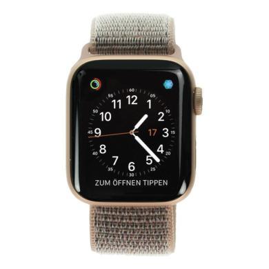 Apple Watch Series 4 Aluminiumgehäuse gold 40mm mit Sport Loop sandrosa (GPS+Cellular) aluminium gold - neu