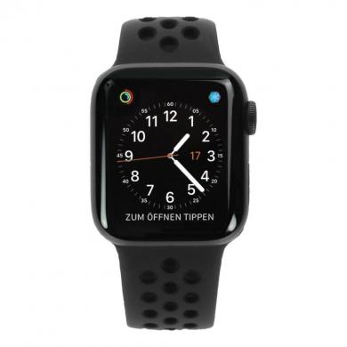 Apple Watch Series 4 - boîtier en aluminium gris 40mm - bracelet sport Nike+ noir (GPS+Cellular) - Neuf