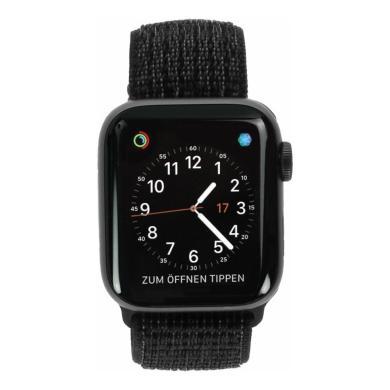 Apple Watch Series 4 Nike+ - boîtier en aluminium gris 40mm - boucle sport noire (GPS+Cellular) - Neuf