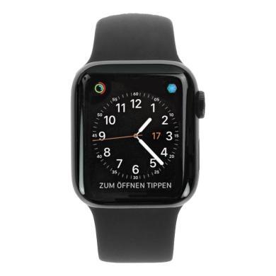 Apple Watch Series 4 - boîtier en acier inoxydable noir 40mm - bracelet sport noir (GPS+Cellular) - Neuf