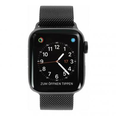 Apple Watch Series 4 - caja de acero inoxidable en negro 40mm - pulsera Milanese negra (GPS+Cellular) - nuevo