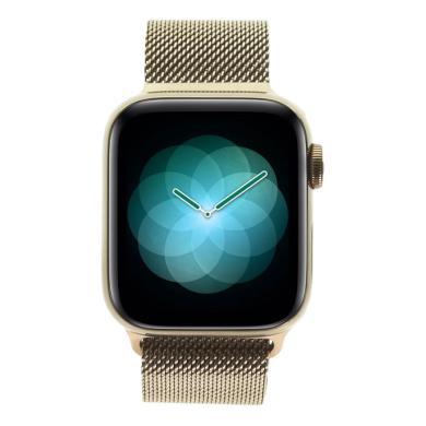 Apple Watch Series 4 - boîtier en acier inoxydable en or 40mm - bracelet milanais rose des sables (GPS+Cellular) - Neuf