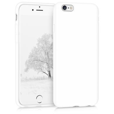 kwmobile Soft Case für Apple iPhone 6 / 6S (35176.48) weiß matt