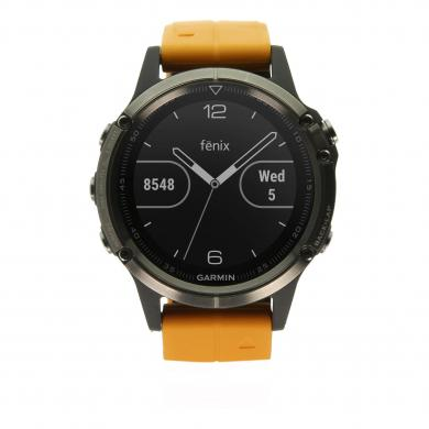 Garmin Fenix 5 Plus Saphir titan orange (010-01988-05) titan - sehr gut
