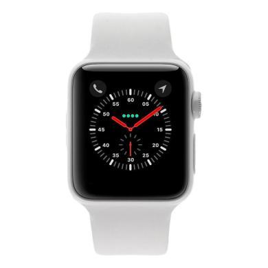 Apple Watch Series 3 38mm caja de cerámica en blanco y correa sport blanca / gris - nuevo