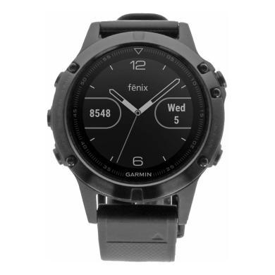 Garmin Fenix 5 Saphir negro con correa de silicona en negro (010-01688-11) - nuevo
