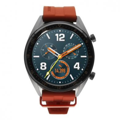 Huawei Watch GT Active grau mit Silikonarmband orange grau - gut