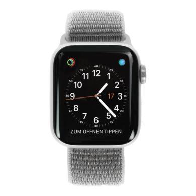 Apple Watch Series 4 aluminio plateado 40mm con pulsera deportiva Loop gris shell (GPS+Cellular) aluminio plateado - nuevo