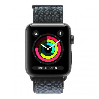 Apple Watch Series 3 Aluminiumgehäuse grau 42mm mit Nike+ Sport Loop midnight black (GPS + Cellular) midnight black - neu
