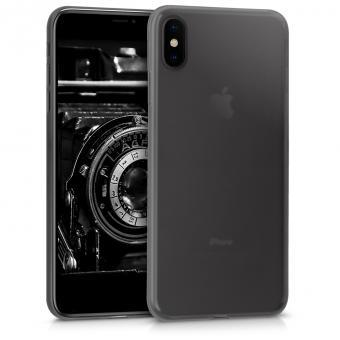 kwmobile Soft Case für Apple iPhone XS Max (45951.01) schwarz/durchsichtig