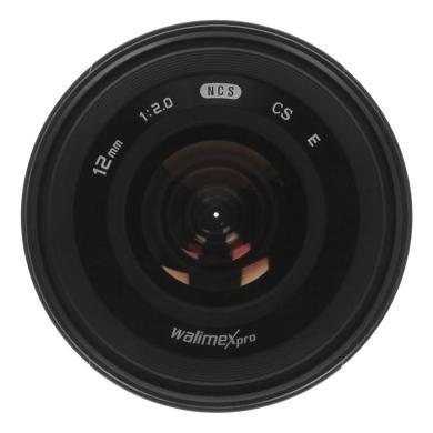 Walimex Pro 12mm 2.0 CSC für Sony E (20155) schwarz - neu