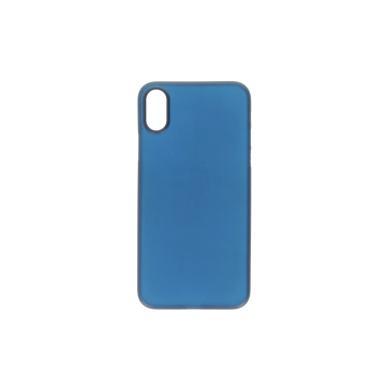 Hard Case für Apple iPhone X -ID17002 blau/durchsichtig - neu
