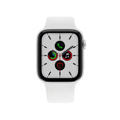 Apple Watch Series 5 Aluminiumgehäuse silber 44mm mit Sportarmband weiß (GPS) silber