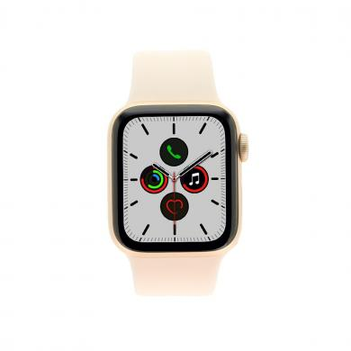 Apple Watch Series 5 Aluminiumgehäuse gold 40mm mit Sportarmband sandrosa (GPS + Cellular) gold - neu