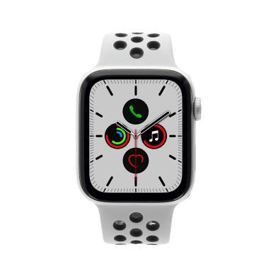Apple Watch Series 5 Nike+ aluminio plateado 44mm con pulsera deportiva platinum/negro (GPS) plateado - nuevo
