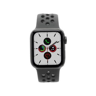 Apple Watch Series 5 Nike+ Aluminiumgehäuse grau 40mm mit Sportarmband schwarz (GPS + Cellular) grau - neu