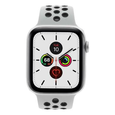 Apple Watch Series 5 Nike+ Aluminiumgehäuse silber 44mm mit Sportarmband platinum/schwarz (GPS + Cellular) silber - neu