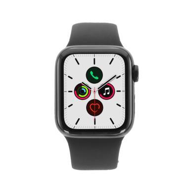 Apple Watch Series 5 Edelstahlgehäuse schwarz 40mm mit Sportarmband schwarz (GPS Cellular) schwarz